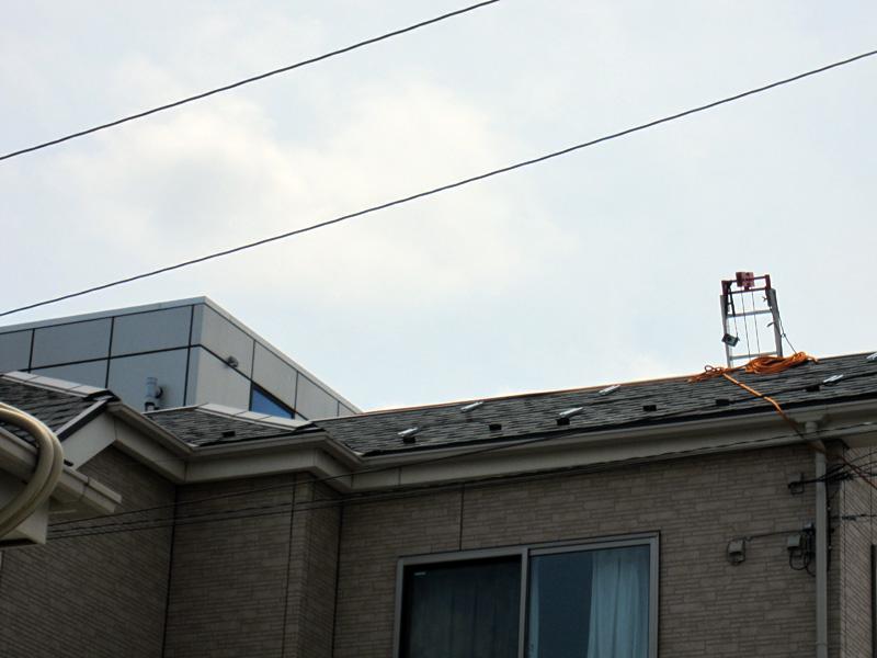 太陽光発電システム設置工事中