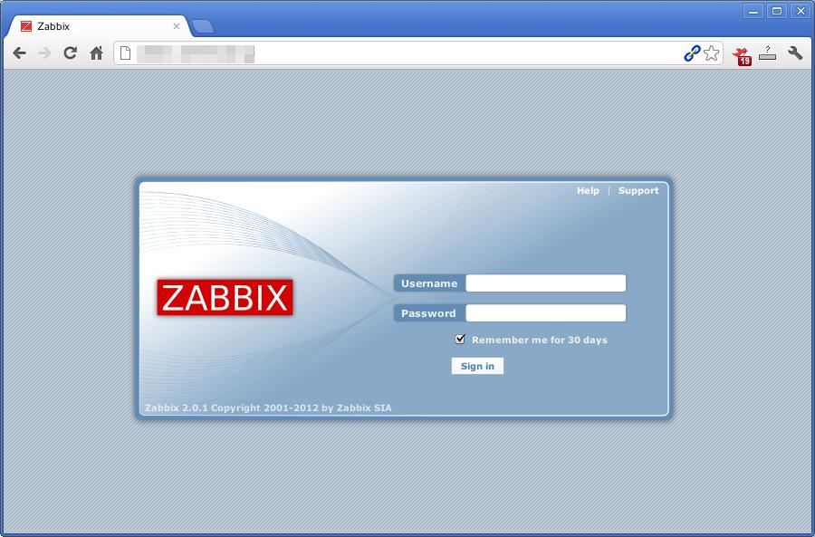 ZABBIX 2.0 WebUI