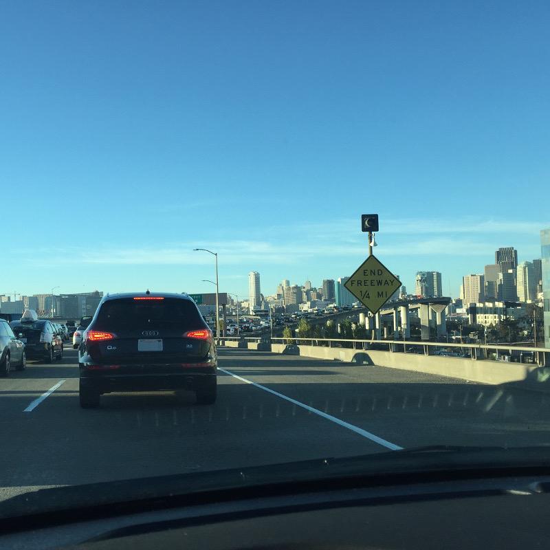 サンフランシスコで運転